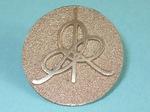 Bronze Steel IHES Lapel Logo Pin, Figure 1