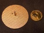 Bronze Steel IHES Logo Lapel Pin Back, Figure 2