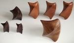 Timborara, Cherry, and Cocobolo  Wood Twists, Figure 1