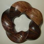 Cocobolo Wood (3.5) Torus Knot, Figure 1