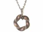 Bronze Steel Mobius (3,5) Torus Knot Pendant