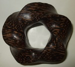 Black Palm Wood (3,5) Torus Knot, Figure 1