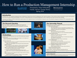 How to Run a Production Management Internship